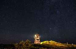 Lighthouse under the Stars Royalty Free Stock Photo