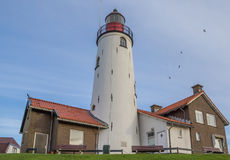 Lighthouse in Urk at the coast of the IJsselmeer Royalty Free Stock Images
