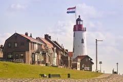 Lighthouse of Urk, the Netherlands stock photography