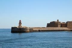 Lighthouse in Valletta, Malta Stock Photo