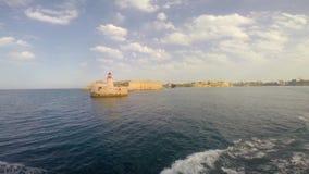 Lighthouse in Valletta stock video