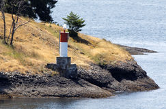 Lighthouse in Vancouver Island Royalty Free Stock Photo