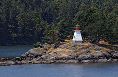 Lighthouse in Vancouver Island Royalty Free Stock Image