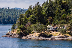 Lighthouse in Vancouver Island Royalty Free Stock Photography