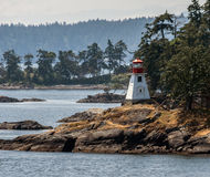 Lighthouse in Vancouver Island Stock Photo