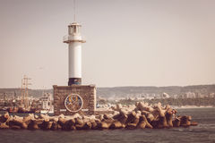 The lighthouse in Varna, Bulgaria Royalty Free Stock Image