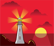 Lighthouse Vector color Stock Images