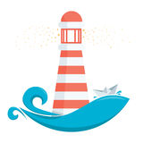 Lighthouse. Vector illustration of a lighthouse Royalty Free Stock Photography