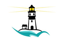 Lighthouse. Vector illustration : Lighthouse on a white background vector illustration
