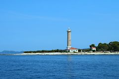 Lighthouse Veli rat-Croatia stock photo