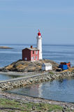 Lighthouse in victoria bc. Historic fisgard lighthouse at seashore, it is the first lighthouse built in vancouver island in 1860, victoria, british columbia Royalty Free Stock Photo