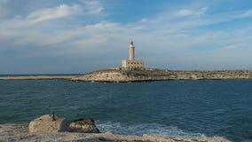 Lighthouse Vieste Apulia Italy. Lighthouse of Vieste Apulia Italy stock video