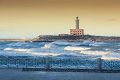 The Lighthouse of Vieste stock photography