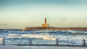 The Lighthouse of Vieste royalty free stock images