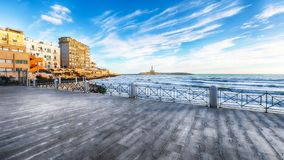The Lighthouse of Vieste royalty free stock image