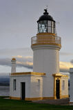 Lighthouse. View of Chanonry Point Lighthouse, Rosemarkie, Scotland, built in 1846 by Alan Stevenson Stock Photos