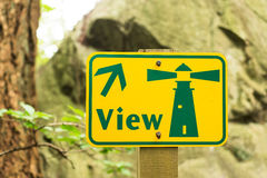 Lighthouse view point sign in the park Stock Photography