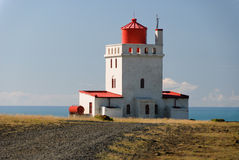 Lighthouse Vik in Iceland. Lighthouse on the coast of Vik in Iceland Royalty Free Stock Photos