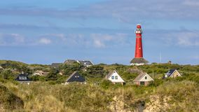 Lighthouse village royalty free stock photos