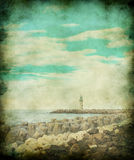 Lighthouse in vintage image style. Stock Photos