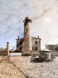 Lighthouse in vintage style Royalty Free Stock Images