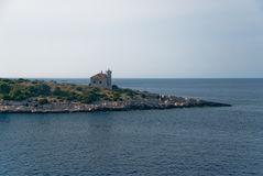 Lighthouse on Vis Island Stock Images