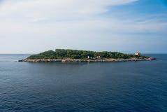 Lighthouse on Vis Island Stock Photos
