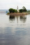 A lighthouse on the Volga river. Stock Photo