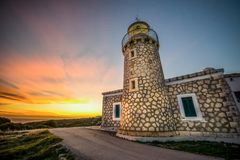 A lighthouse in volimes zakynthos. Beautiful royalty-free stock photography. a lighthouse in volimes zakynthos island Greece Stock Photo