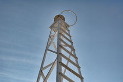 Lighthouse. Volos town, lighthouse at the port royalty free stock images