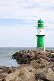 Lighthouse at Warnemunde Royalty Free Stock Photo