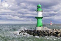 Lighthouse of Warnemunde Stock Photo