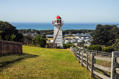 The lighthouse at Warrnambool. Australian Pacific coast Royalty Free Stock Photography