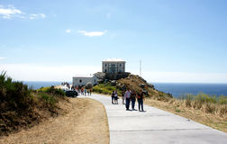 Lighthouse Way Finisterre Stock Photo