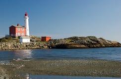Lighthouse on the west coast. Fisgard Lighthouse National Historic Site Royalty Free Stock Photos