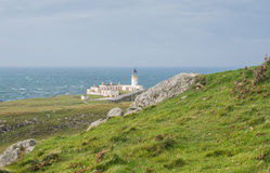 Lighthouse at West coast of Scotland Royalty Free Stock Images