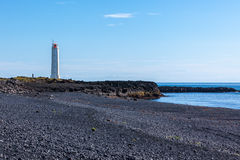 Lighthouse in West Iceland at sunny weather Royalty Free Stock Photo