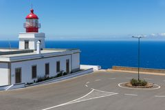 Lighthouse at the west point of Madeira Island Stock Photos