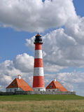 Lighthouse of Westerhever Stock Photos