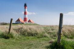 Lighthouse Westerhever Stock Image
