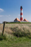 Lighthouse Westerhever Royalty Free Stock Images