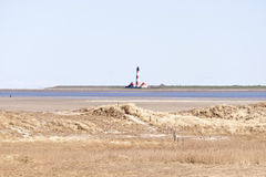 Lighthouse Westerhever, Germany Stock Image