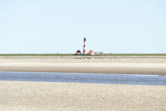 Lighthouse Westerhever, Germany Stock Images