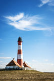 Lighthouse Westerhever Germany Stock Image