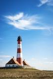 Lighthouse Westerhever Germany stock image