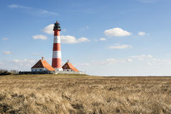 Lighthouse Westerhever Royalty Free Stock Photography