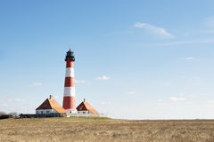 Lighthouse Westerhever Royalty Free Stock Image