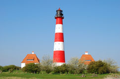 Lighthouse,Westerhever,North Sea,Germany Stock Image