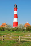Lighthouse,Westerhever,North Sea,Germany Royalty Free Stock Images