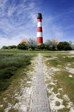 Lighthouse Westerheversand, Friesland, Germany Stock Photos
